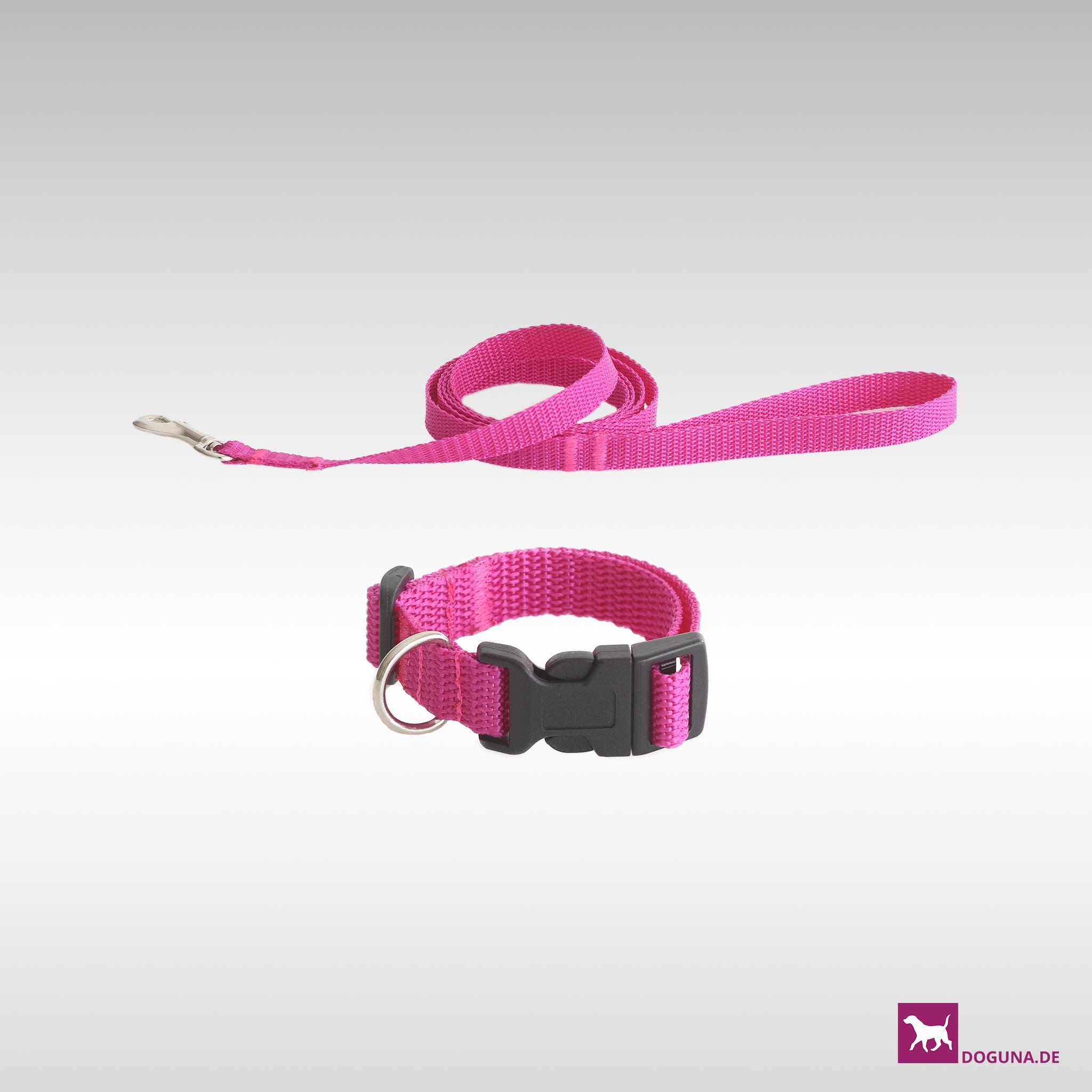 halsband leinen set f r kleine hunde z b chihuahuas und welpen farbe pink. Black Bedroom Furniture Sets. Home Design Ideas